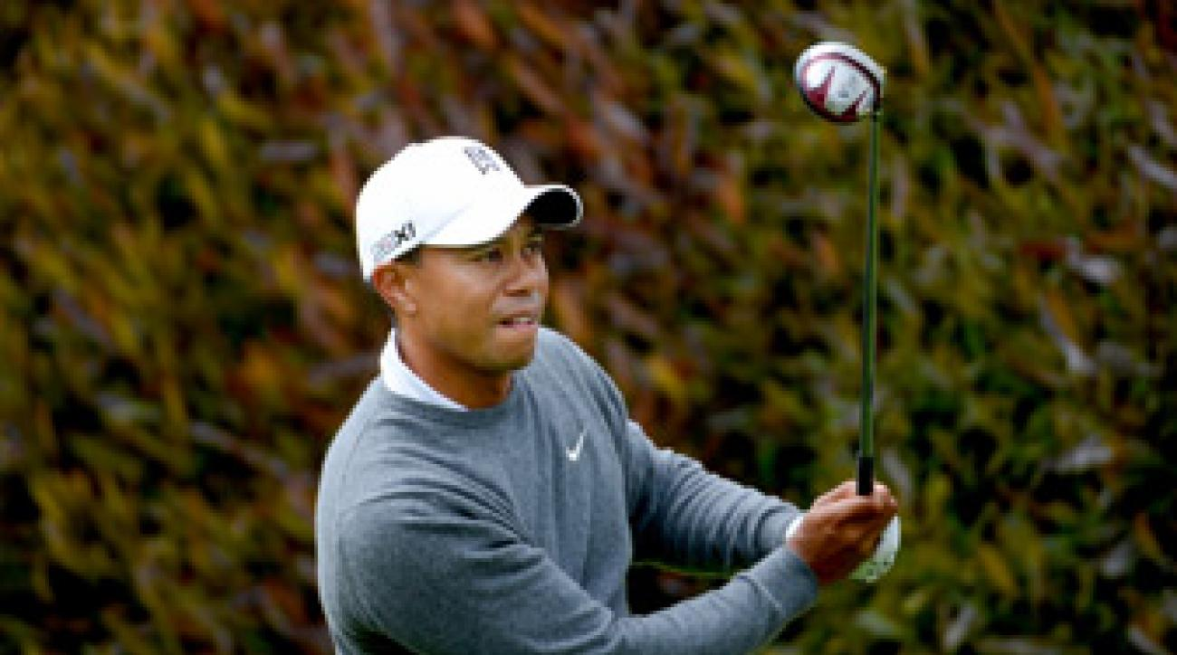 Tiger Woods made three birdies and two bogeys.