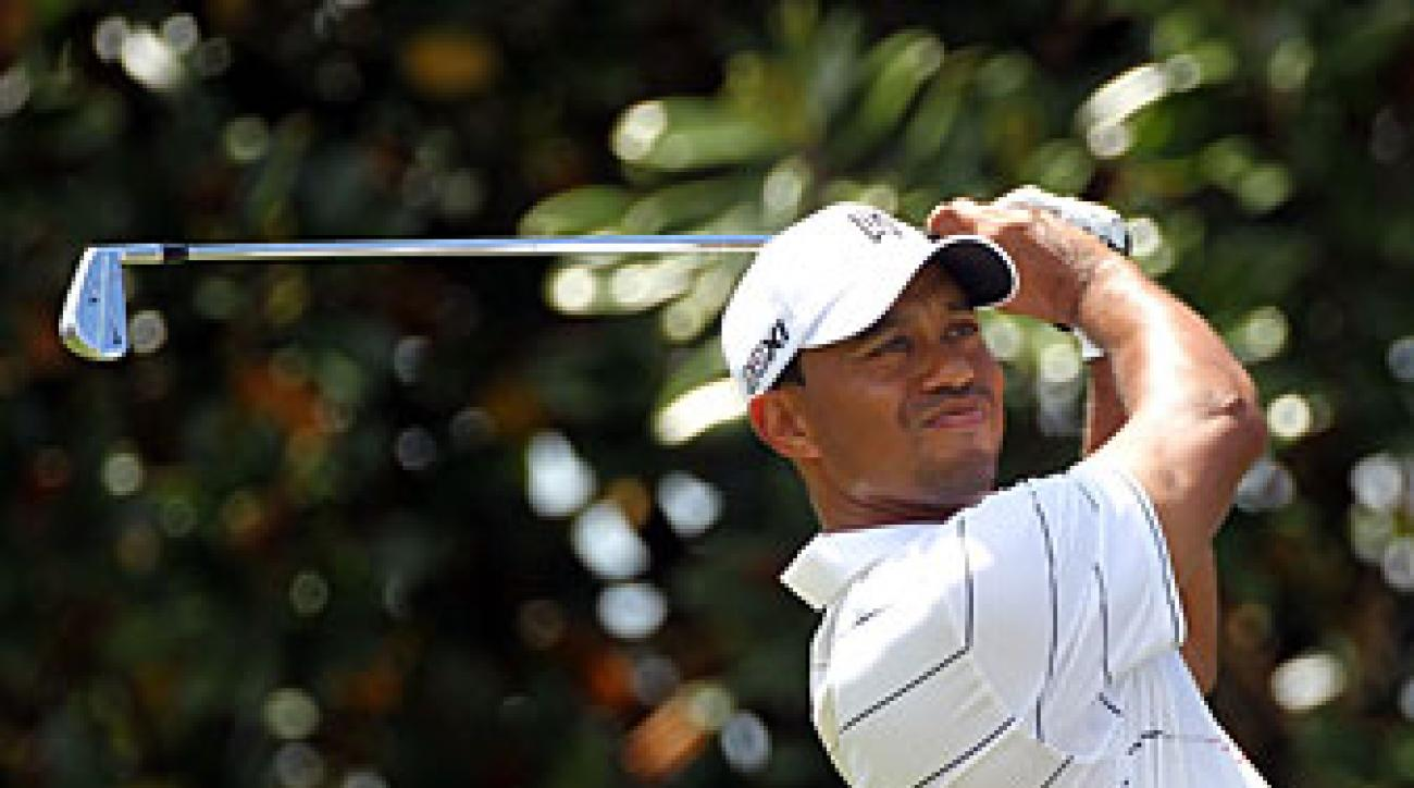 Tiger Woods made seven birdies and no bogeys.