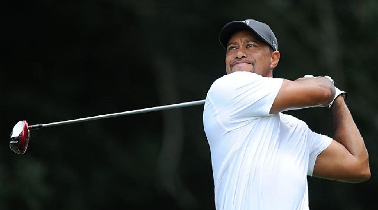 Tiger Woods sounded upbeat about his play at the Quicken Loans National despite missing the cut for just the 10th time in 300 career PGA Tour starts.