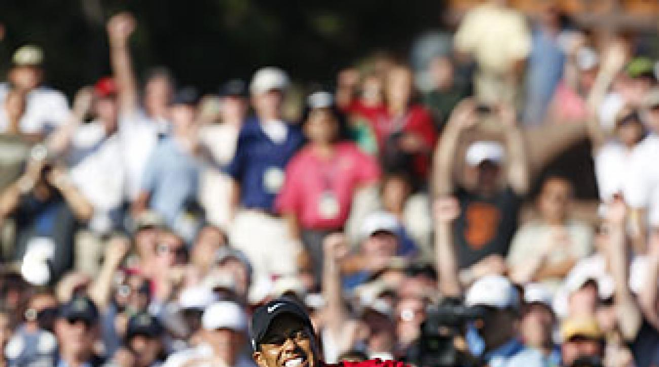 Tiger's last major win came at the 2008 U.S. Open.