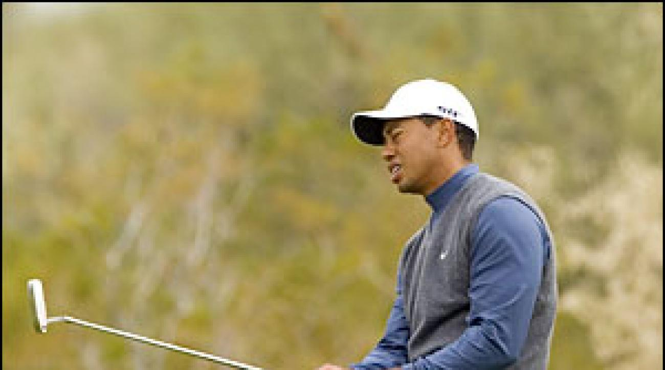 Woods, who came back from 4 down against O'Hern, blamed a ball mark for a fatal miss.