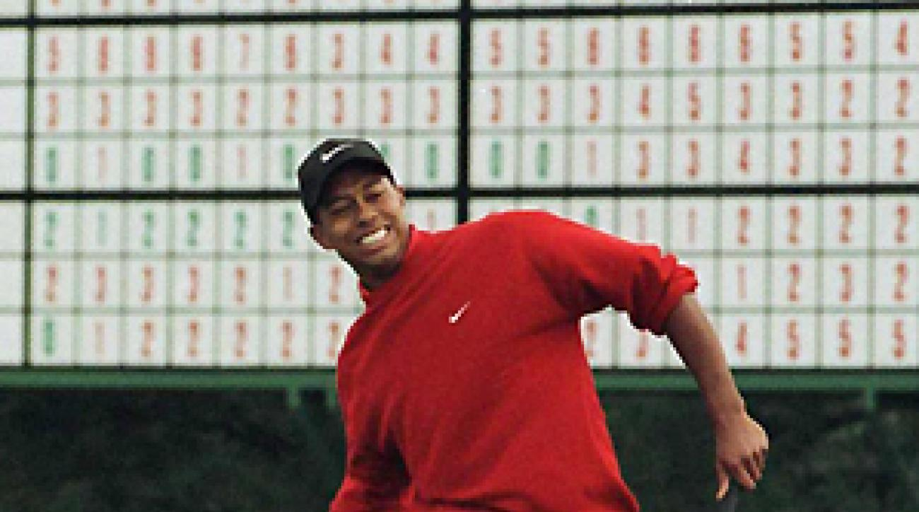 Woods won the 1997 Masters by a record 12 strokes.