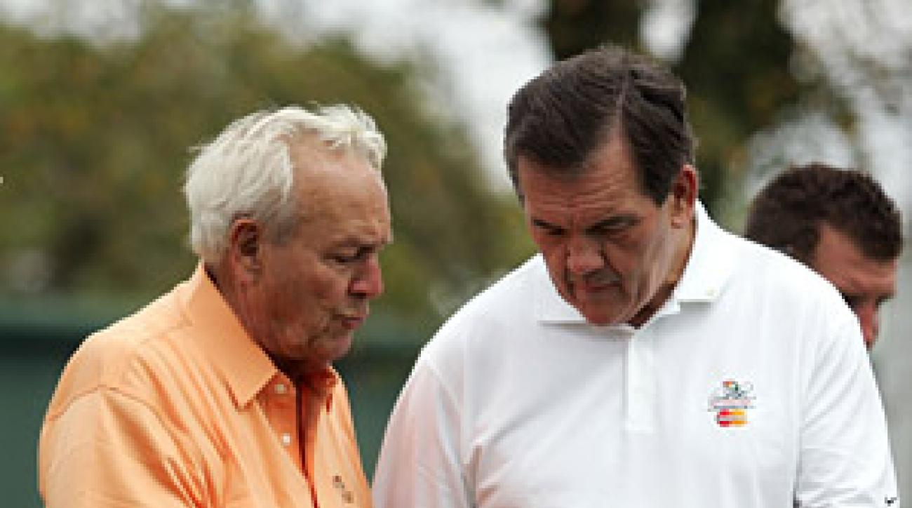 The Golf Buddy: Arnold Palmer with Tom Ridge, 64, former Pa. governor
