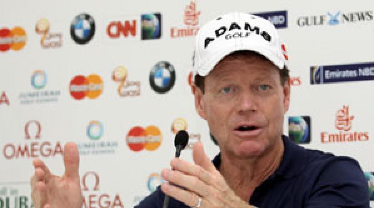 Tom Watson spoke before the Dubai Desert Classic.