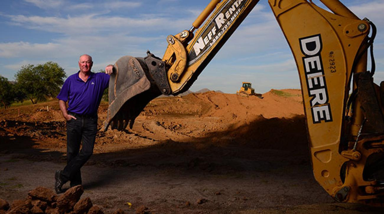 Tom Weiskopf and the tools of his trade, shown here in mid-renovation at the Stadium Course at TPC Scottsdale.