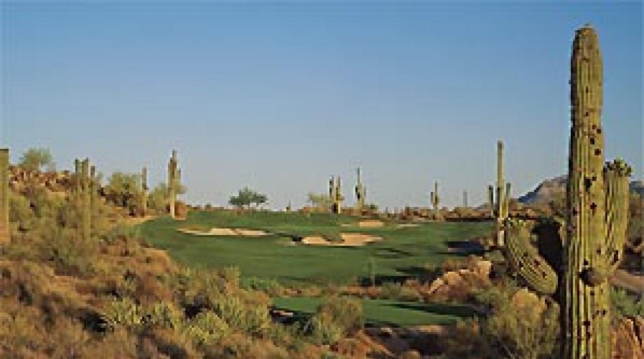 Prickly situation: The 13th at Troon North's Monument Course.