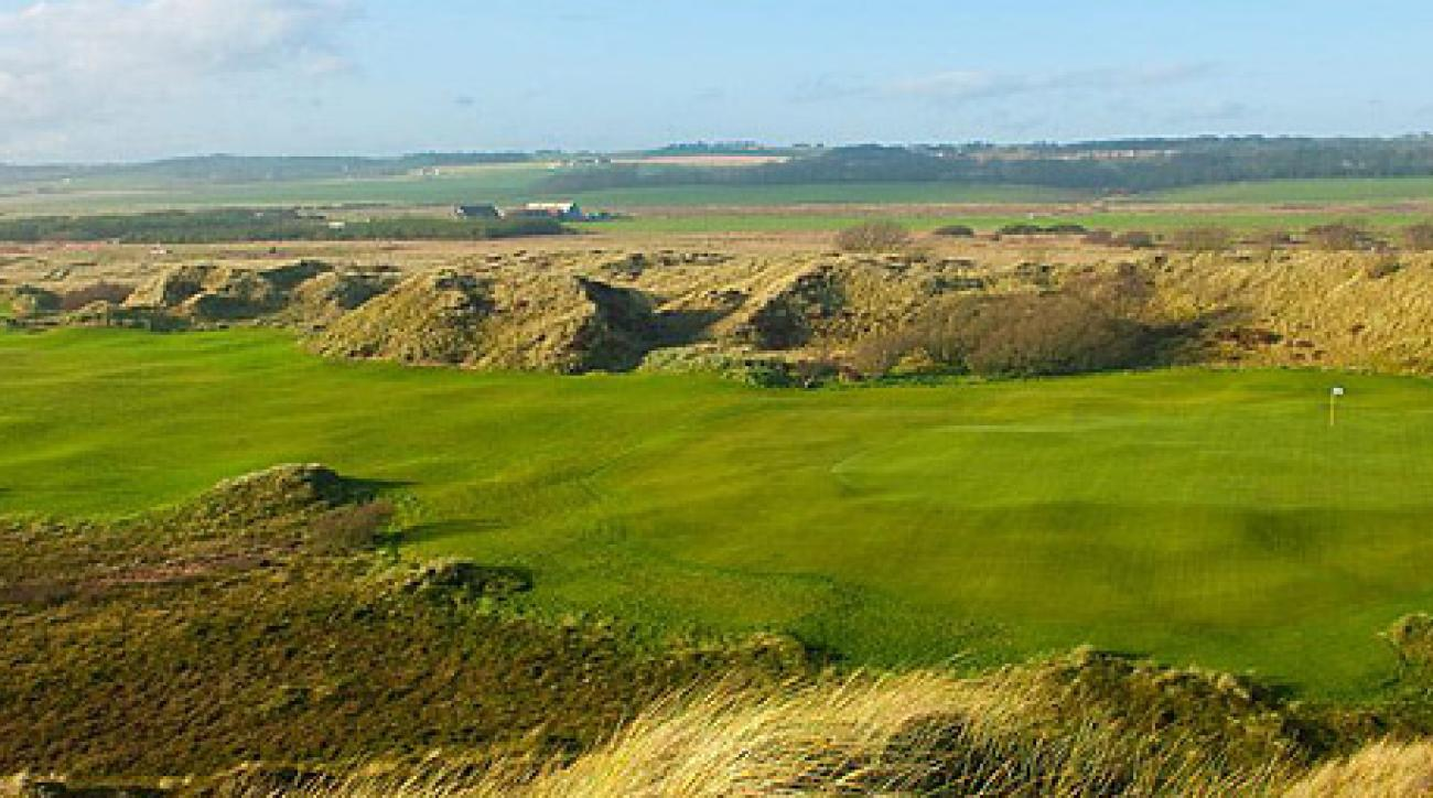 No. 7 at Donald Trump's new course in Scotland.