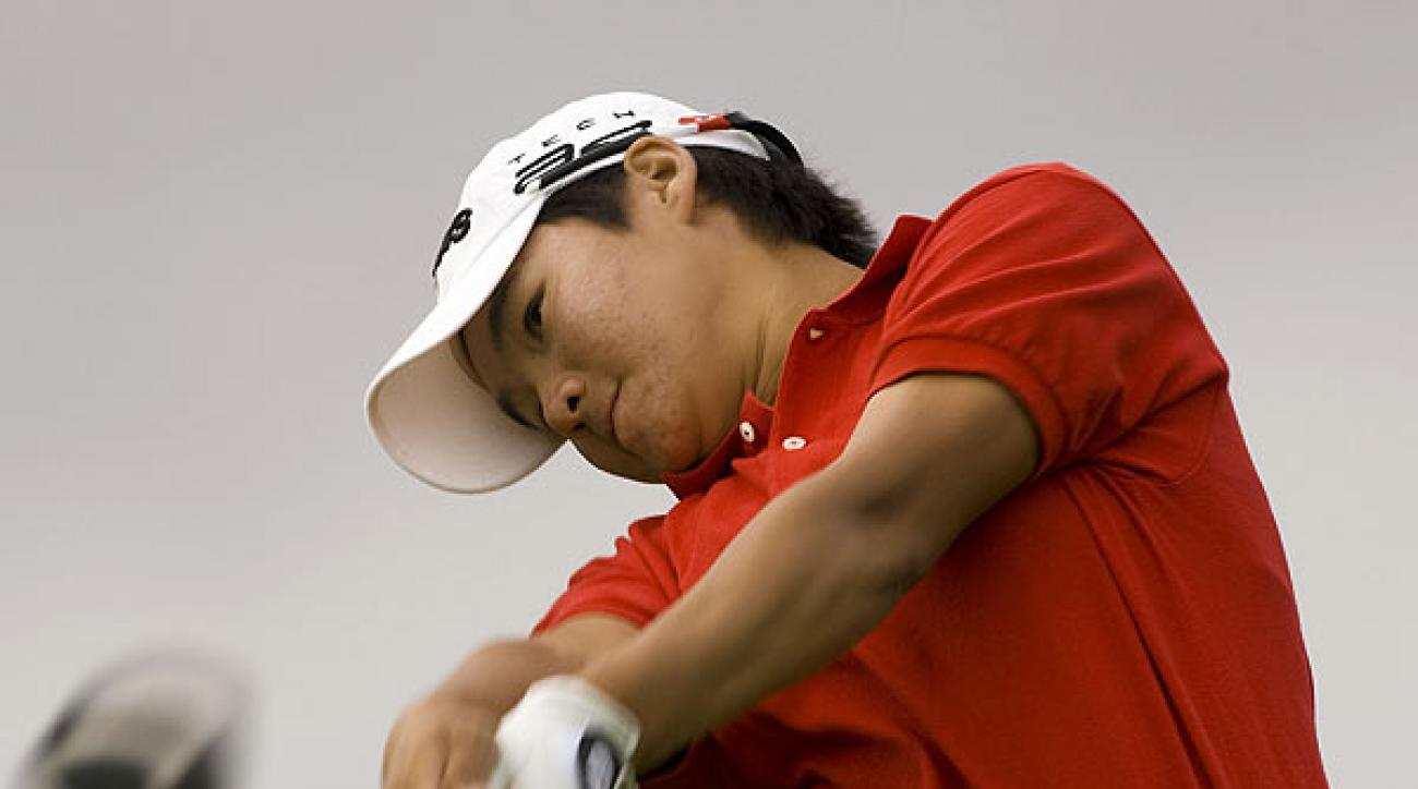 Yani Tseng is tied with Wie at six under par, one stroke behind leader Angela Stanford.
