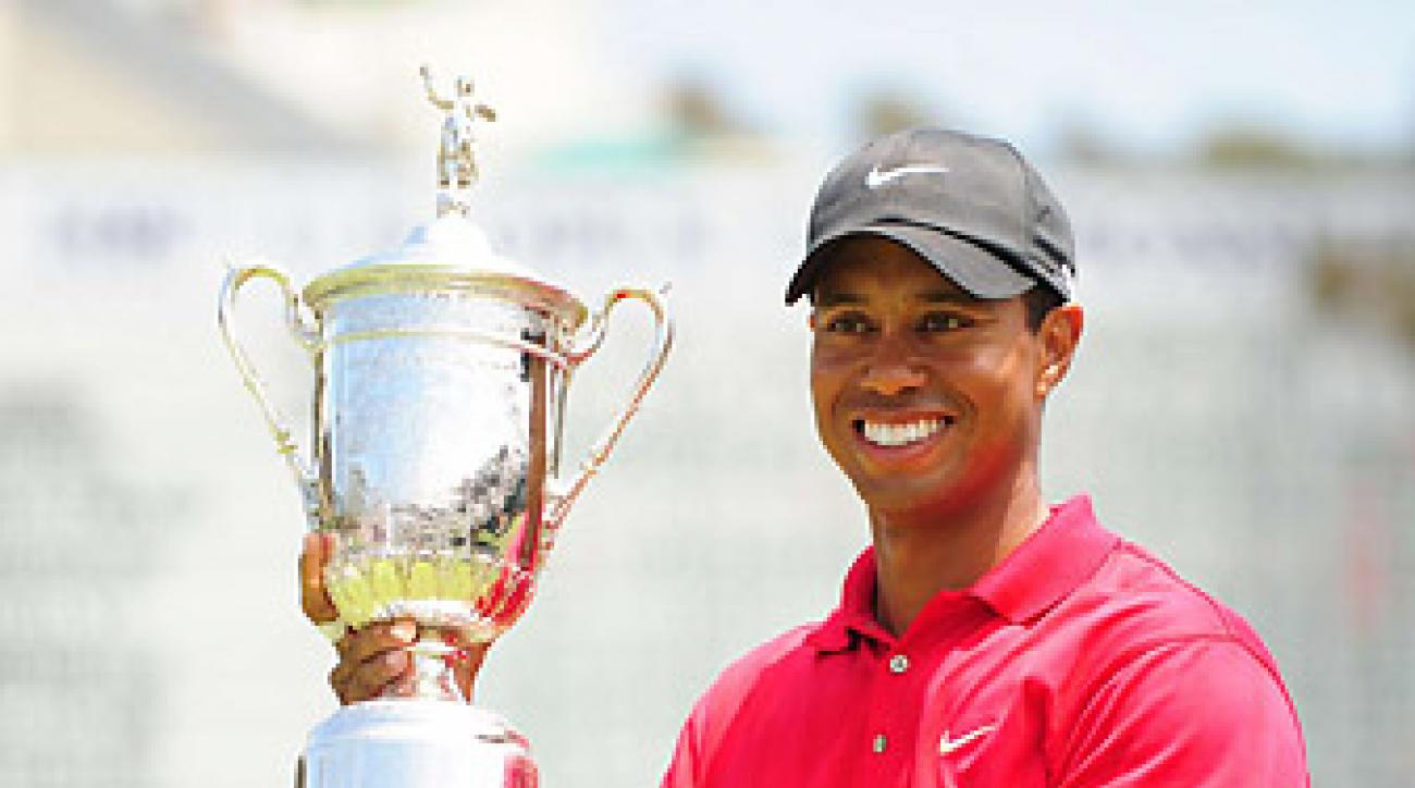 Tiger Woods's last major win came at the 2008 U.S. Open at Torrey Pines.