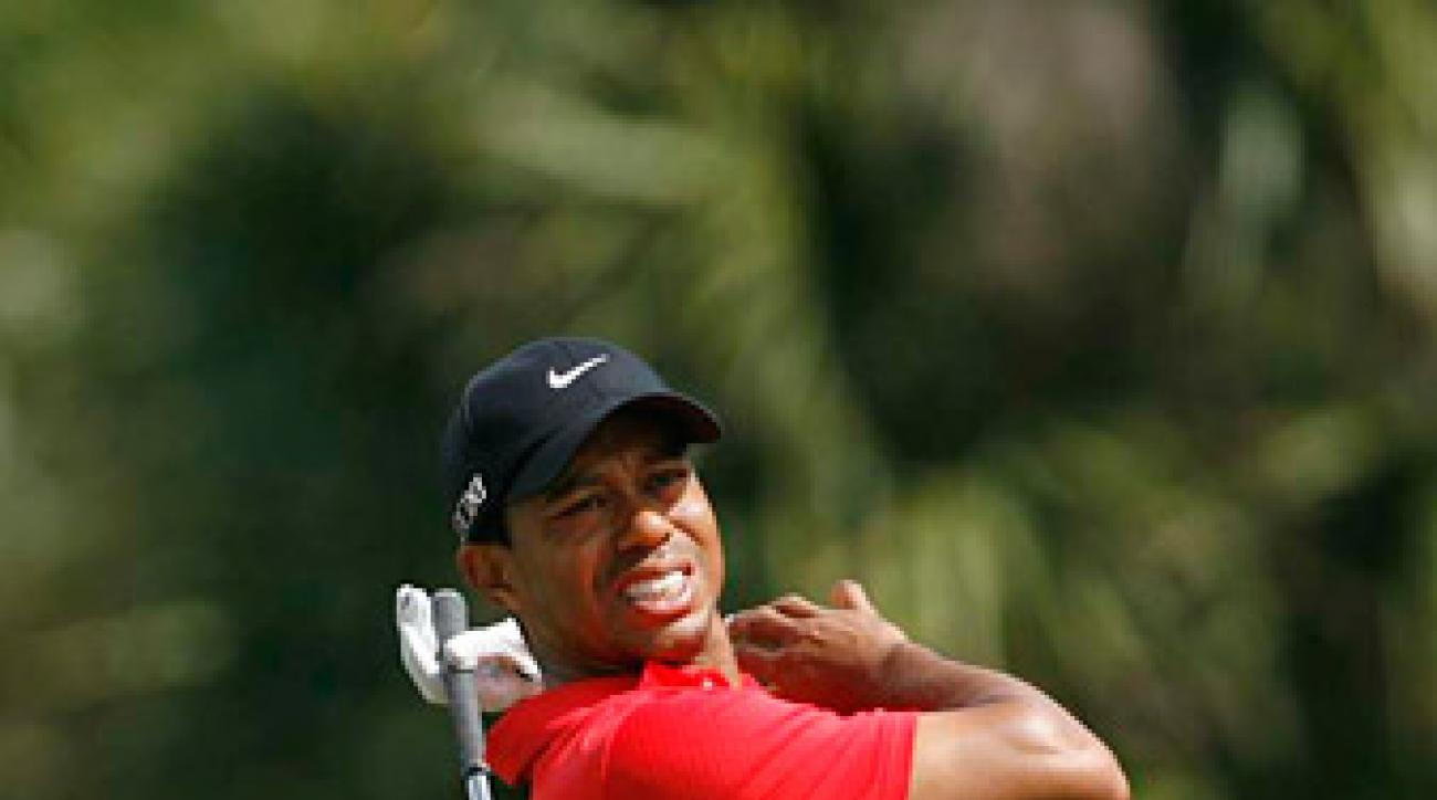 Woods said on Twitter that his doctor believes he has a mild strain of his left Achilles.