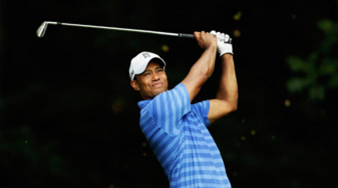Tiger Woods made an eagle, two birdies and a bogey.