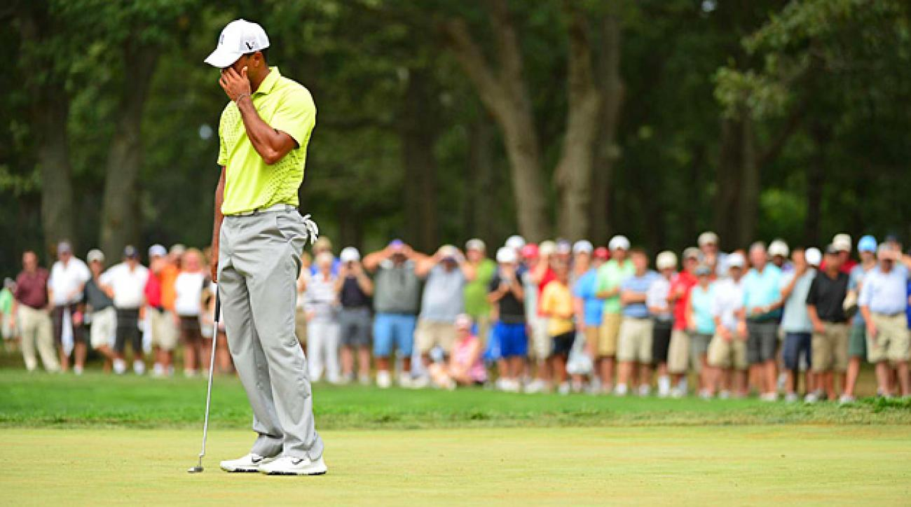 Tiger Woods had four three-putts on Saturday.