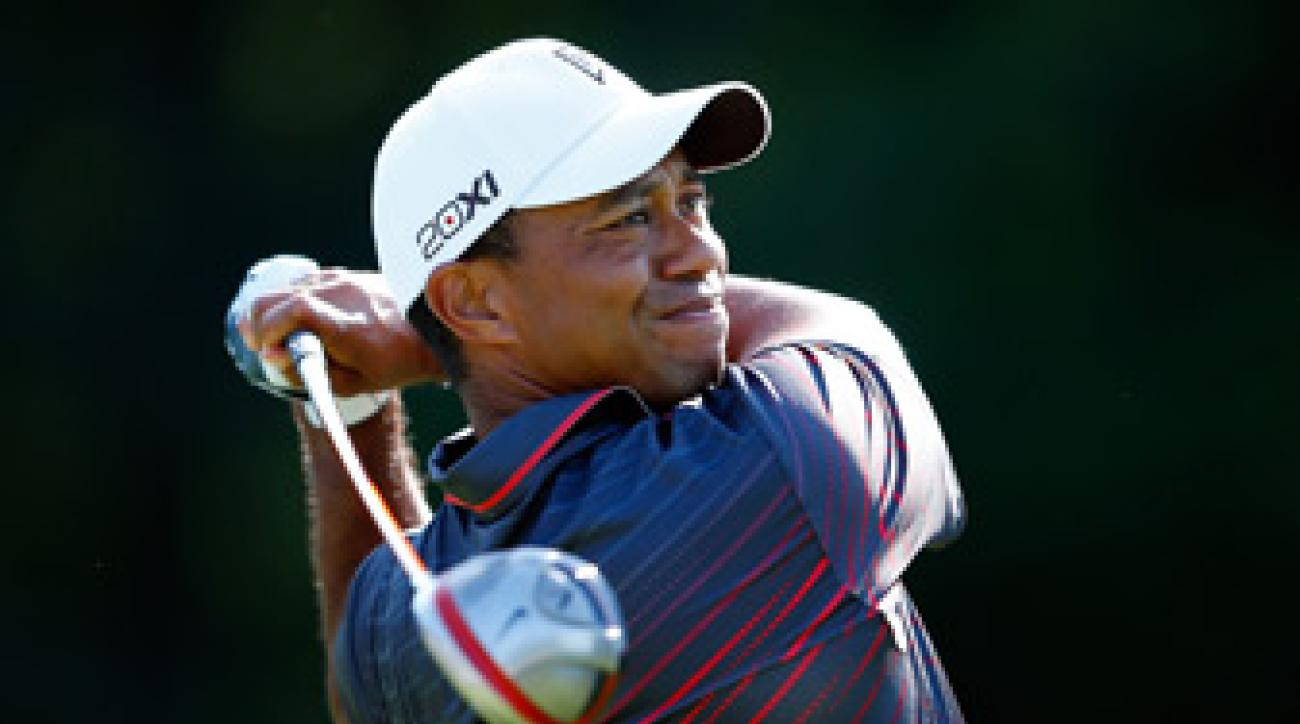 Tiger Woods made eight birdies and one bogey.