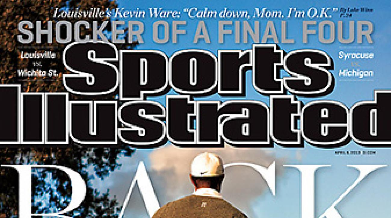 Tiger Woods on the cover of the April 8, 2013, issue of Sports Illustrated, the only golf cover of the year.