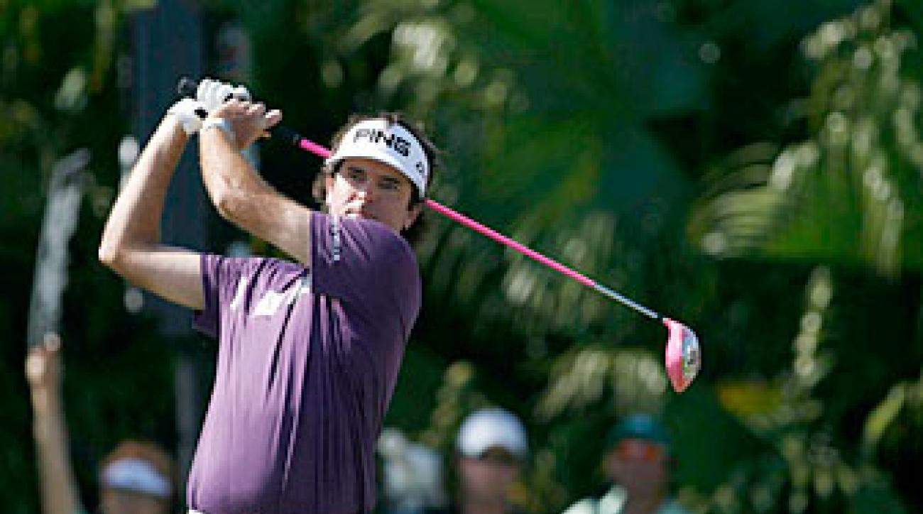 Bubba Watson made six birdies, three bogeys and an eagle.