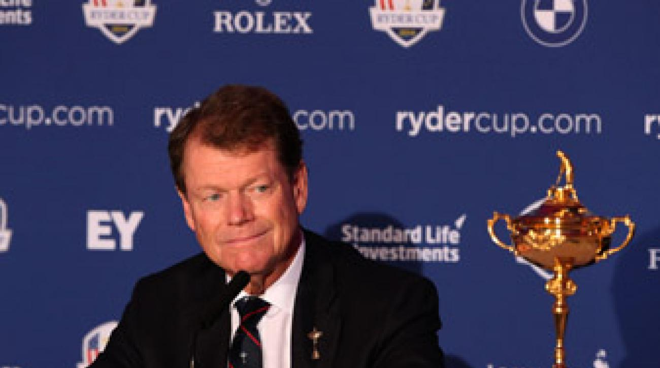 Tom Watson will make his three wild-card picks for the U.S. Ryder Cup team on Tuesday, Sept. 2.