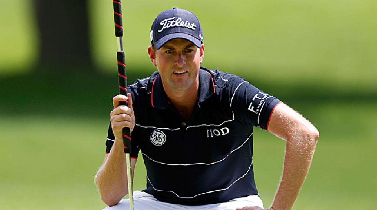 Webb Simpson's opening-round 64 was good enough for a one-shot lead.