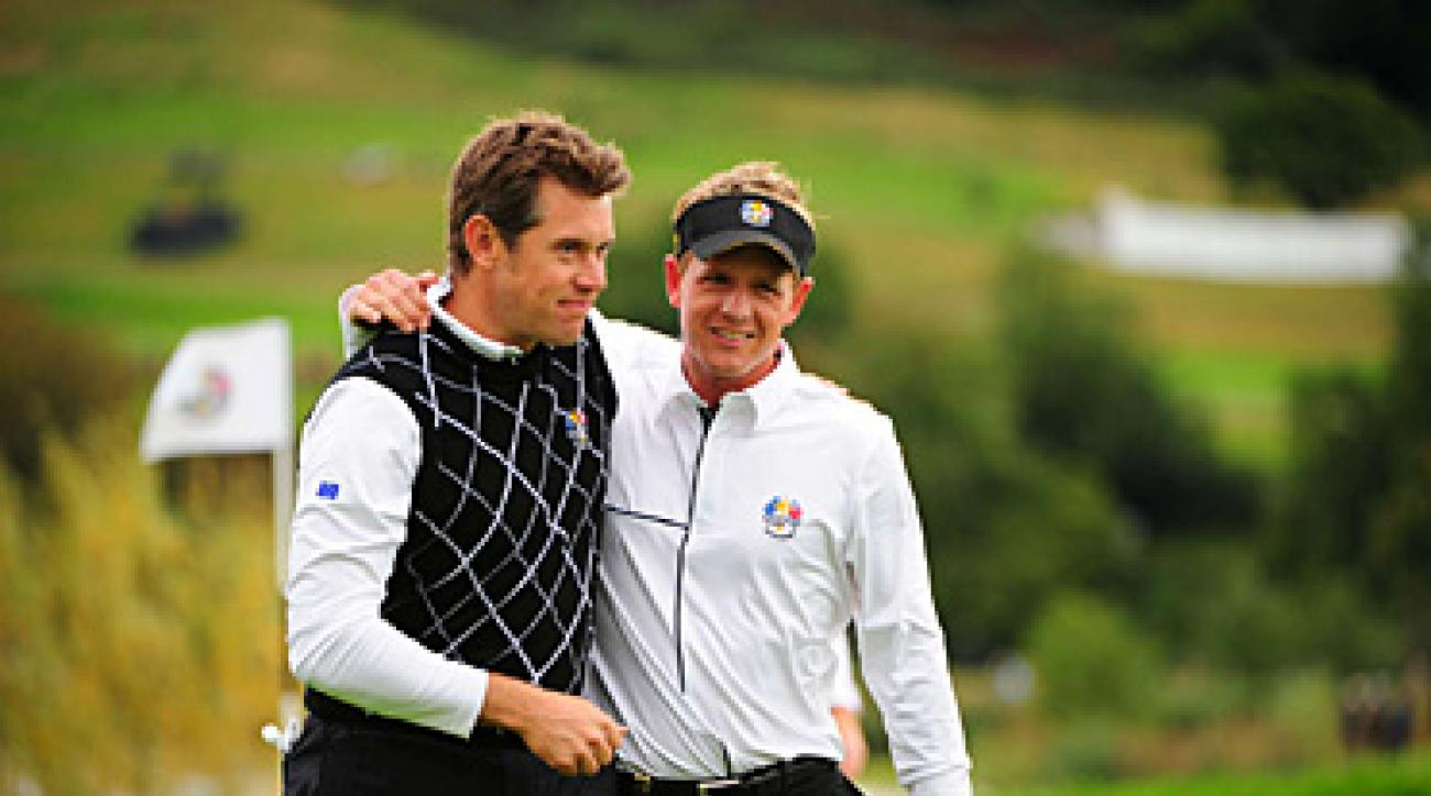 Lee Westwood, left, and Luke Donald have looked like the two best players in the world this week.