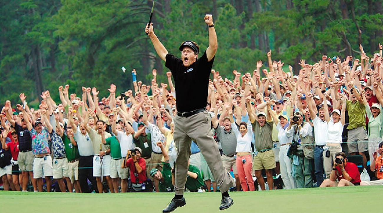 Phil Mickelson (here at the '04 Masters) is one of nine major winners I've worked with. You can be next.