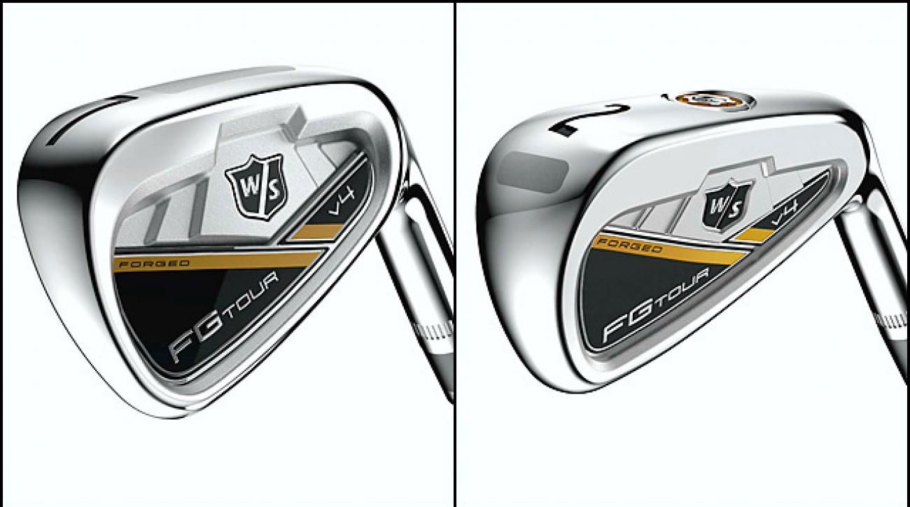 From left: Wilson Staff FG Tour V4 7-Iron; Wilson Staff FG Tour V4 Utility Iron.