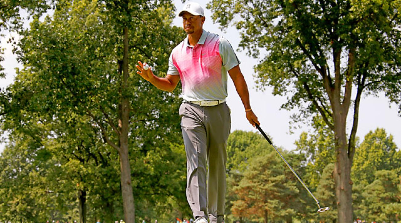 Tiger Woods needs to play well this week and next week to make the FedEx Cup playoffs.