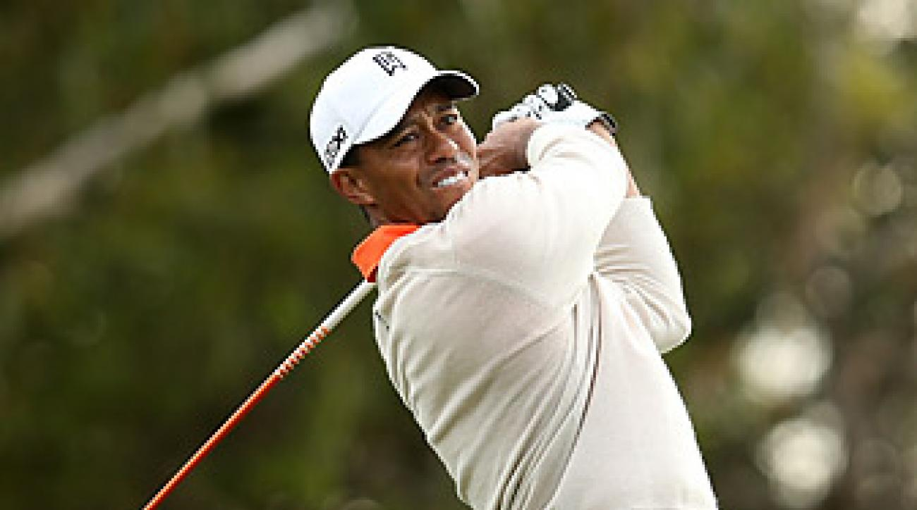 Woods made six birdies and an eagle on Thursday.