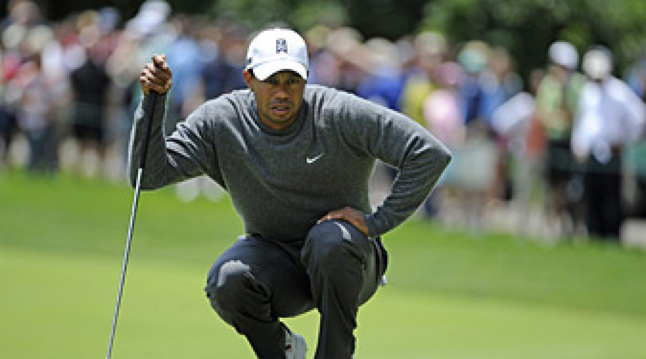 Tiger Woods has been struggling on the greens this week.