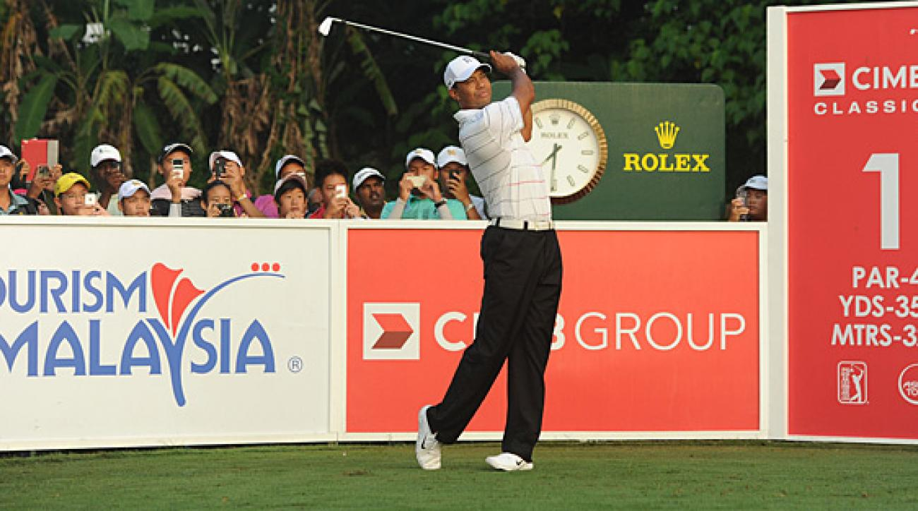 Tiger Woods is playing in the CIMB Classic this week in Malaysia.