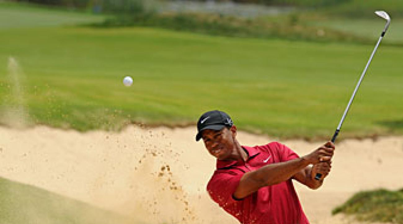 Tiger Woods made an eagle, five birdies and two bogeys.