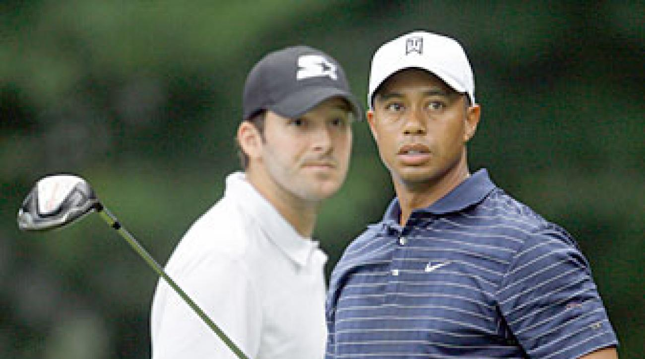 Tiger Woods, right, and Dallas Cowboys quarterback Tony Romo are likely to be paired together at Pebble Beach.