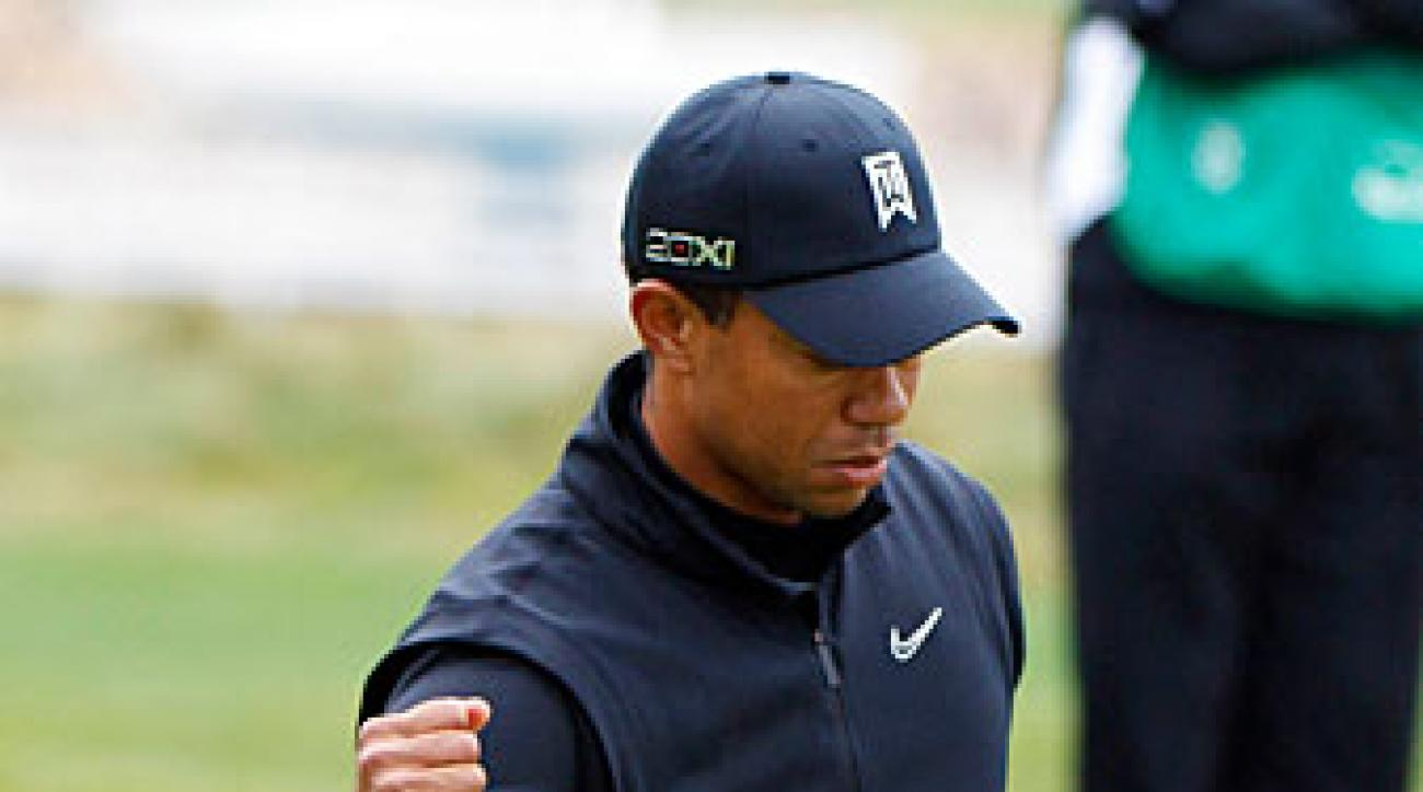 Tiger Woods made six birdies and one bogey on Saturday.