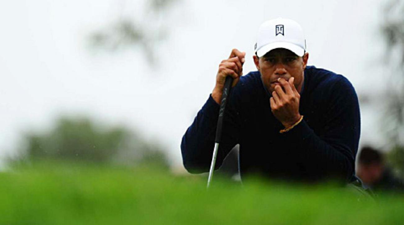 Tiger Woods made an eagle, six birdies and a bogey on Friday.