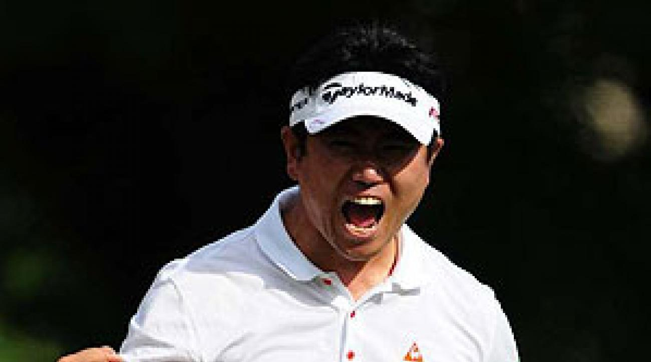 The game-winner came on the short (352-yard) par-4 14th hole, where Yang wedged in for eagle from 20 yards off the green to take a one-stroke lead.