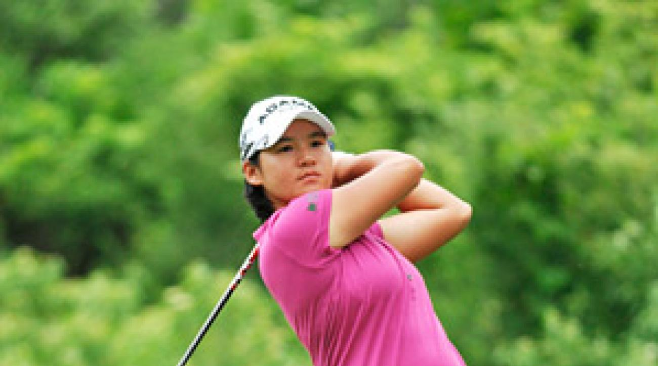 Yani Tseng used a special driver swing to ensure accuracy on trouble holes at the LPGA Championship.