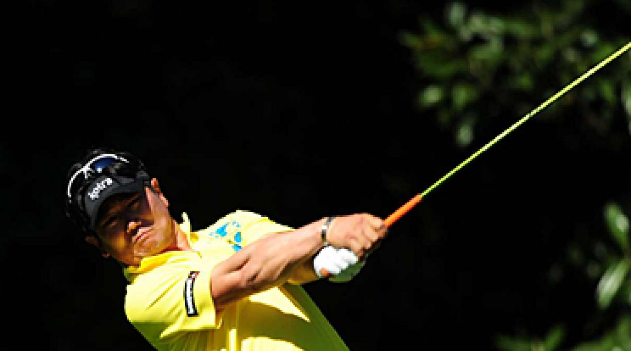 Y.E. Yang in the third round of this year's Masters, where he finished tied for eighth.