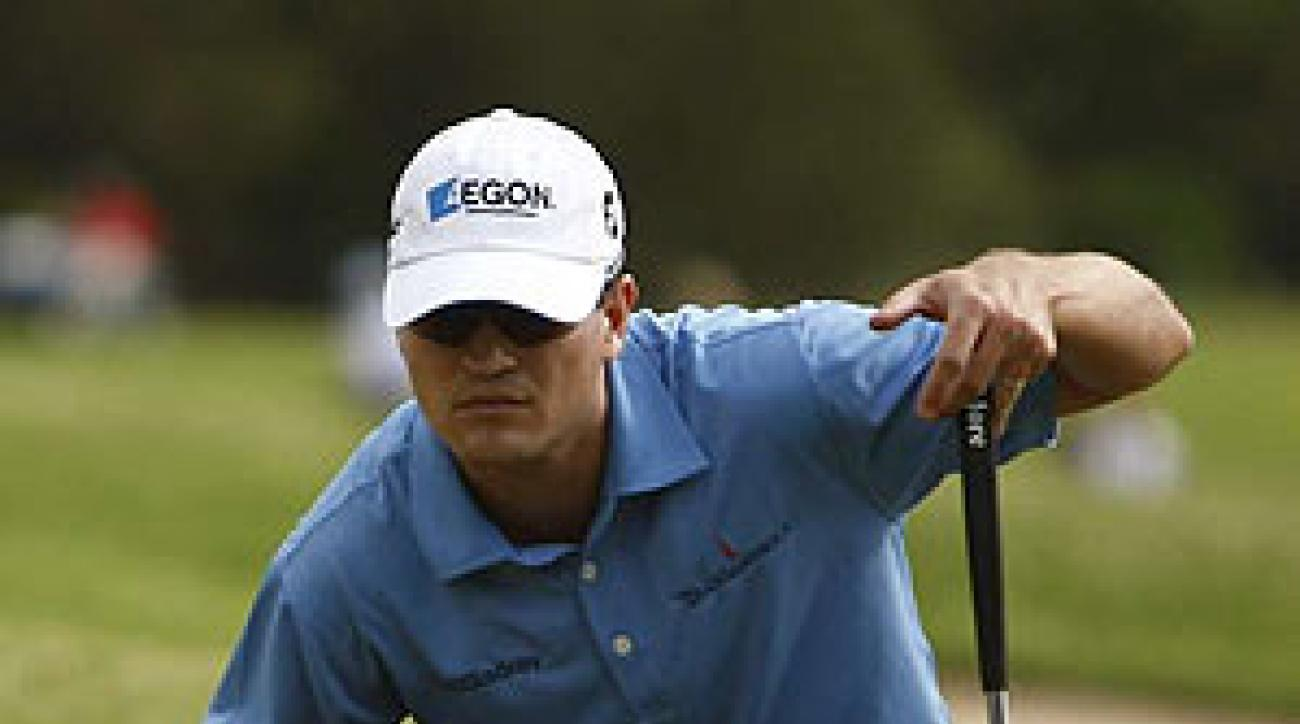 Zach Johnson won the Valero Texas Open for the second year in a row.