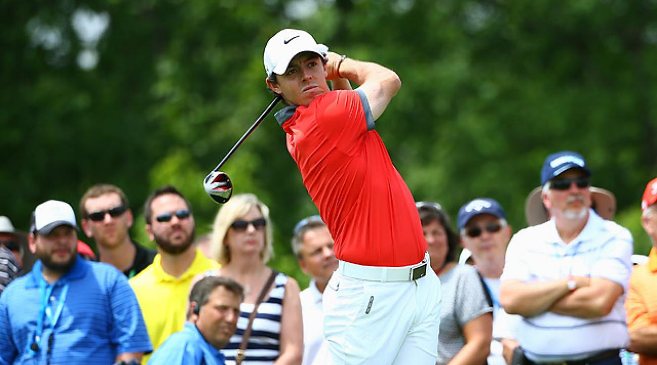 Rory McIlroy had two eagles in his round of 63.