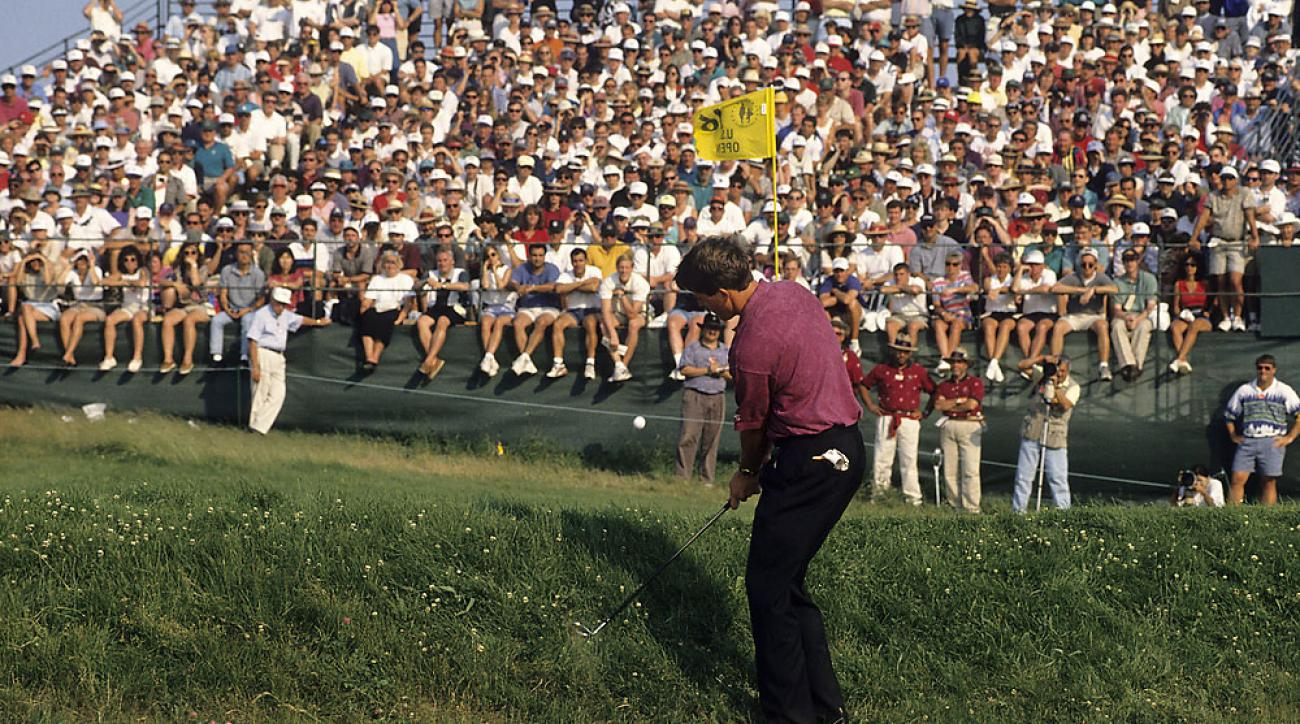 Phil Mickelson started a long and painful U.S. Open career as an amateur in 1990. His first top 10 came in 1995 at Shinnecock Hills, when he finished fourth.