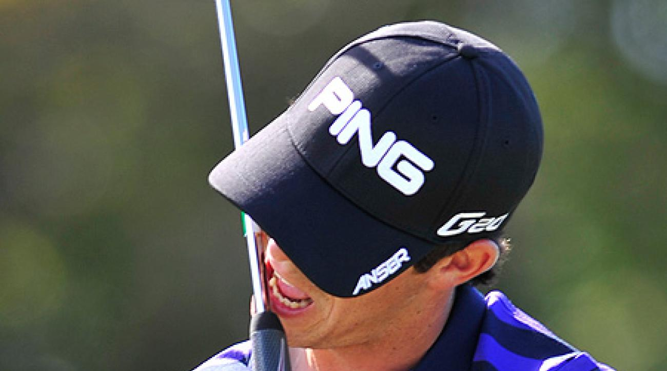 Billy Horschel made a late double-bogie six that dropped him from the lead into second place, one stroke behind Thompson.