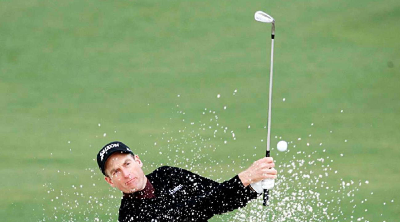 Jim Furyk was even par through the first 11 holes, until a bogey on No. 12.  He finished at two over par.
