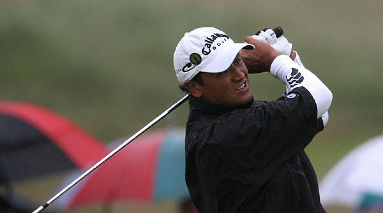 Michael Campbell, who edged Tiger Woods to win the 2005 U.S. Open, fired a three-under 68.