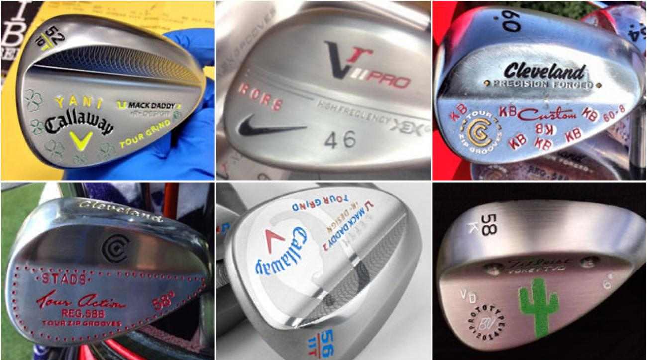 Club stamping started as a means for clubmakers to avoid confusion when working on wedges for multiple players, but it's since evolved into a source of personal pride for Tour pros. From initials to movie quotes -- and everything in between -- here's some of our favorite wedge stamps.