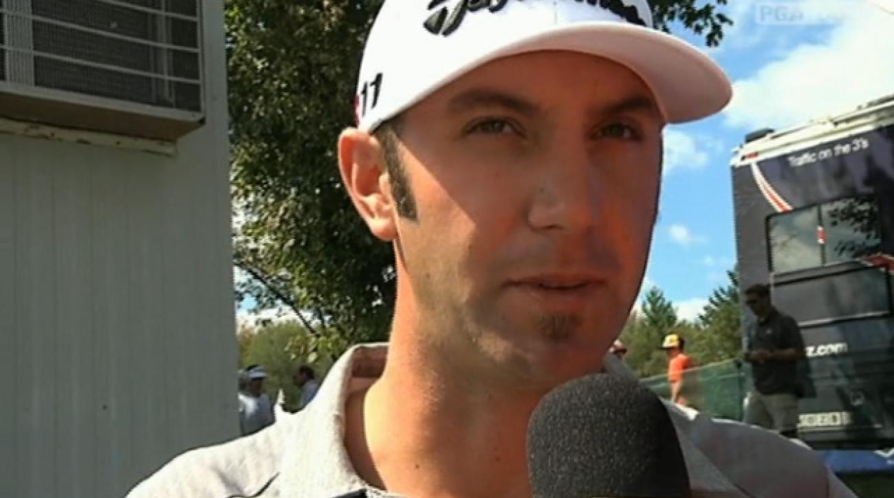 2011 Deutsche Bank Championship Round 1: Dustin Johnson Interview