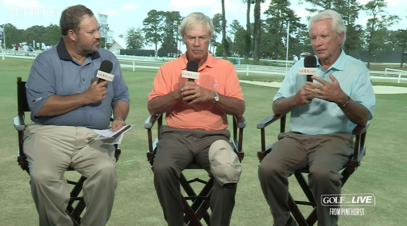 Golf.com Live: Crenshaw and Coore on Pinehurst's Crowned Greens