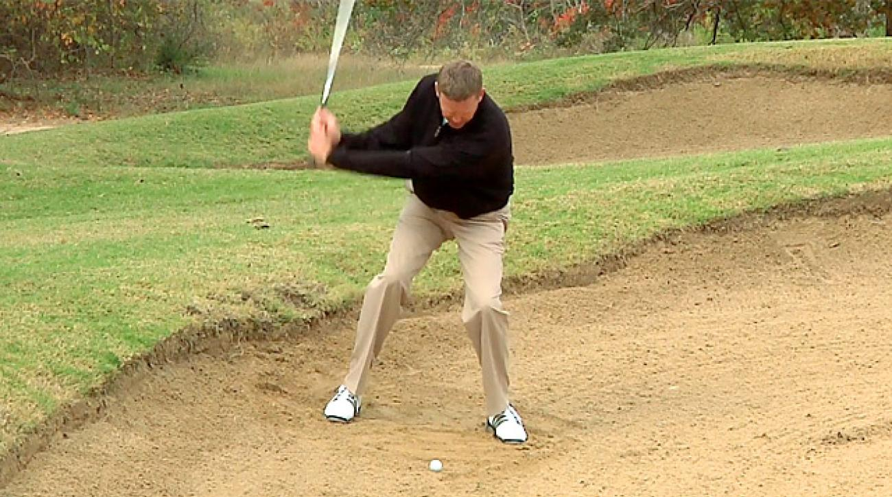 Hump Day Tip: Beat Downhill Bunker Shots