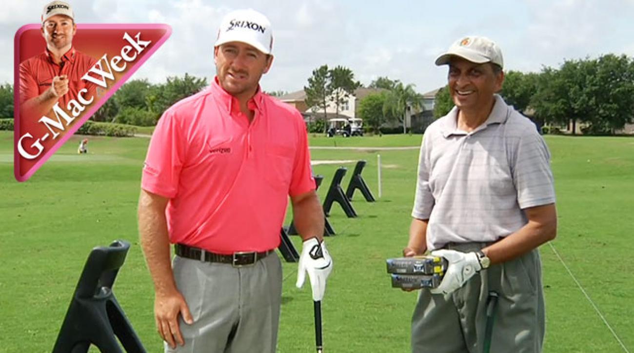 Graeme McDowell Delivers a Surprise Posture Fix to Dr. Ajit Shah