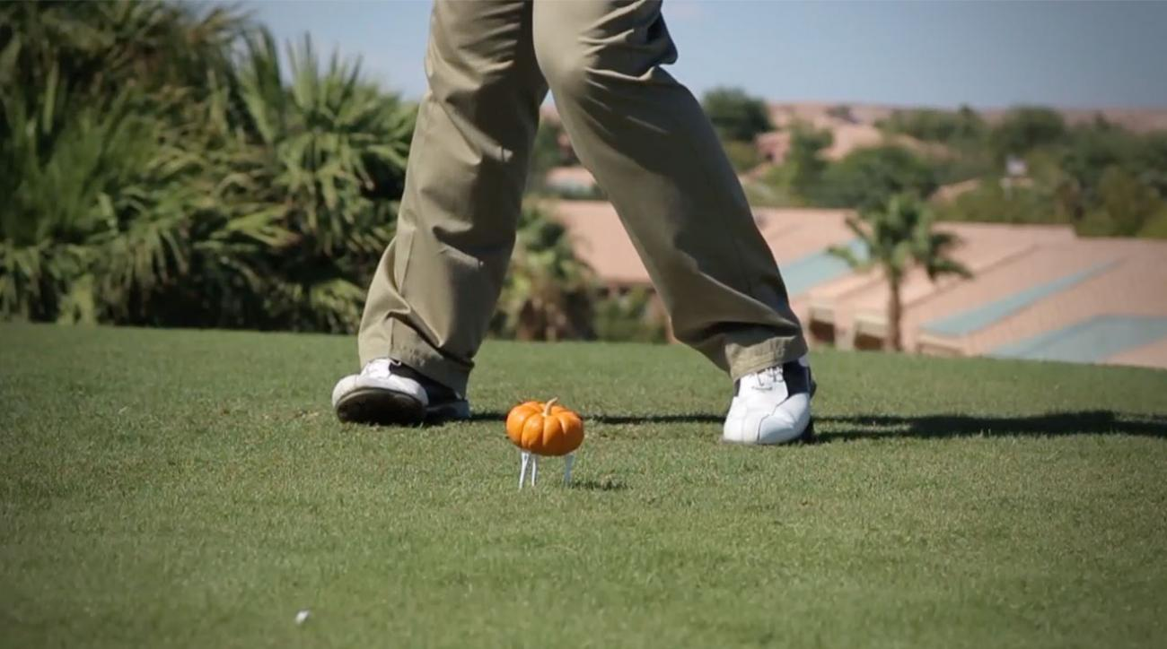 Smashing Pumpkins: Golfer Tees Off on a Gourd in Slow Motion