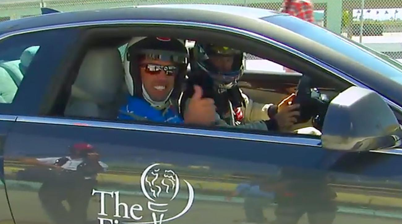 Tour Pros Hit Racetrack at Cadillac Charity Challenge