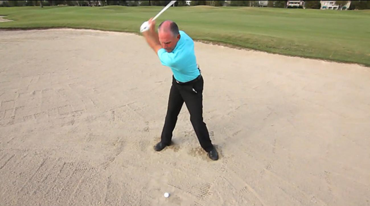 'Reach' in a fairway bunker