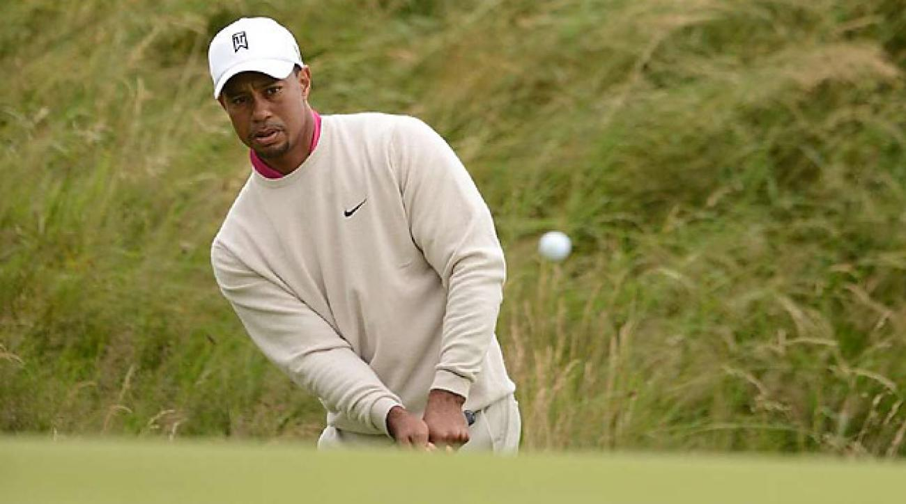 Tiger Woods starts strong with 67 at British Open